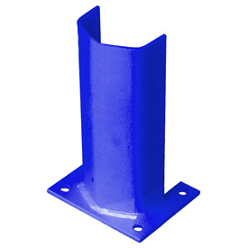 "3/8"" Thick 12"" H Steel Post Protector Blue"