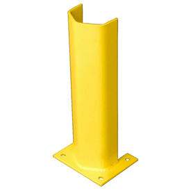 "3/8"" Thick 18"" H Steel Post Protector Yellow"