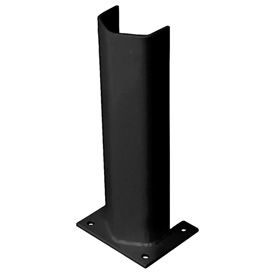"3/8"" Thick 18"" H Steel Post Protector Black"