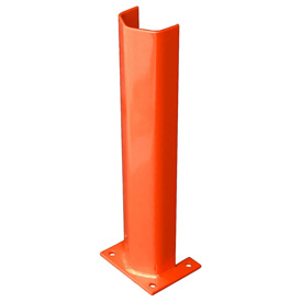 "3/8"" Thick 24"" H Steel Post Protector Orange"