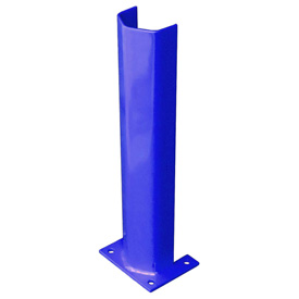 "3/8"" Thick 24"" H Steel Post Protector Blue"
