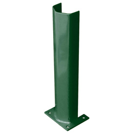 "3/8"" Thick 24"" H Steel Post Protector Green"
