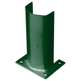 "1/2"" Thick 12"" H Steel Post Protector Green"