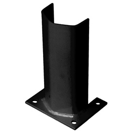 "1/2"" Thick 12"" H Steel Post Protector Black"
