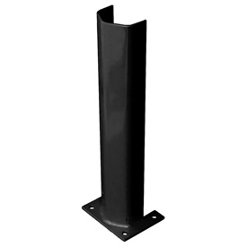 """1/2"""" Thick 24"""" H Steel Post Protector Black"""
