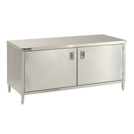 "Aero Manufacturing 4TGOHD-2496 96""W x 24""D Economy Flat Top Cabinet, Hinged Doors, Galv."