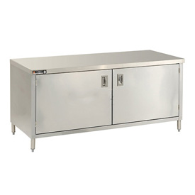 "Aero Manufacturing 2TGOHD-30120 120""W x 30""D Premium Flat Top Cabinet, Hinged Doors, Galv."