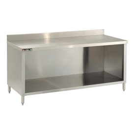 "Aero Manufacturing 2TGBO-24120 120""W x 24""D Premium Cabinet with 4"" Backsplash, Galv."