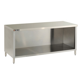 "Aero Manufacturing 4TGO-2472 72""W x 24""D Economy Flat Top Cabinet, Enclosed Base, Galv."
