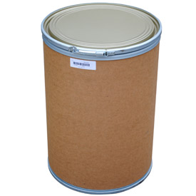 Vestil 30 Gallon Fiber Drum FD-30 with Steel Chime & Steel Lid