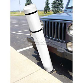 "52""H FlexBollard™ - Concrete Installation - White Cover/Black Tapes"