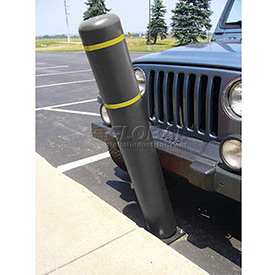 "52""H FlexBollard™ - Concrete Installation - Black Cover/Yellow Tapes"