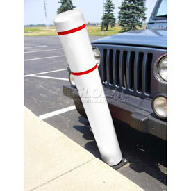 "52""H FlexBollard™ - Asphalt Installation - White Cover/Red Tapes"