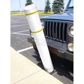 "52""H FlexBollard™ - Asphalt Installation - White Cover/Yellow Tapes"