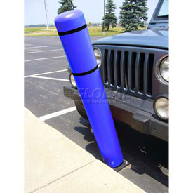 "52""H FlexBollard™ - Asphalt Installation - Blue Cover/Black Tapes"