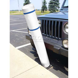 "52""H FlexBollard™ - Natural Ground Installation - White Cover/Blue Tapes"