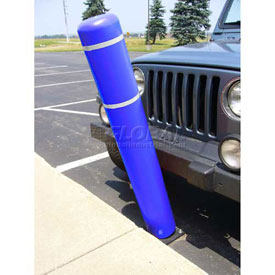 "52""H FlexBollard™ - Natural Ground Installation - Blue Cover/White Tapes"