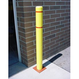 "7""x 72"" Bollard Cover - Yellow Cover/Red Tapes"