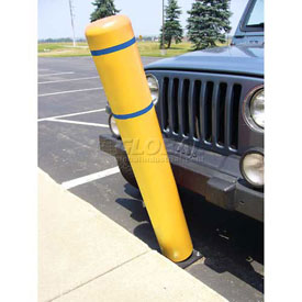 "72""H FlexBollard™ - Asphalt Installation - Yellow Cover/Blue Tapes"