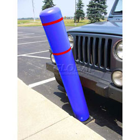 "72""H FlexBollard™ - Asphalt Installation - Blue Cover/Red Tapes"
