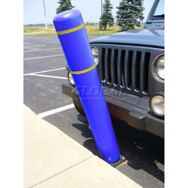 "72""H FlexBollard™ - Asphalt Installation - Blue Cover/Yellow Tapes"