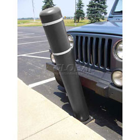"72""H FlexBollard™ - Asphalt Installation - Black Cover/White Tapes"