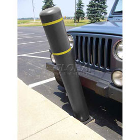 "72""H FlexBollard™ - Asphalt Installation - Black Cover/Yellow Tapes"