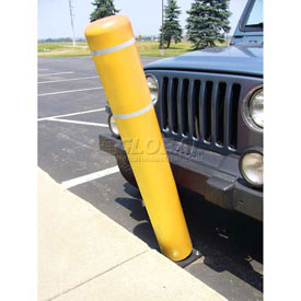 "72""H FlexBollard™ - Natural Ground Installation - Yellow Cover/White Tapes"