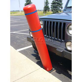 "72""H FlexBollard™ - Natural Ground Installation - Red Cover/Blue Tapes"