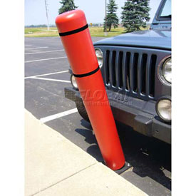 "72""H FlexBollard™ - Natural Ground Installation - Red Cover/Black Tapes"