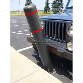 "72""H FlexBollard™ - Natural Ground Installation - Black Cover/Red Tapes"