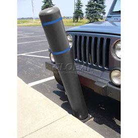 "72""H FlexBollard™ - Natural Ground Installation - Black Cover/Blue Tapes"