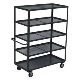 Jamco Expanded Metal Steel Shelf Truck CG348 48 x 30 1200 Lb Capacity