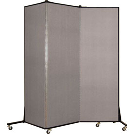 Screenflex 3 Panel Mobile Room Divider - Fabric Color: Light Gray