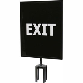 "Tensator Queueway Black 11""x14"" 1/4"" Acrylic Sign - Exit (Double Side)"