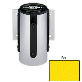 Tensabarrier Yellow Mini Wall Mount 7.5'L Yellow Retractable Belt Barrier