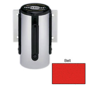 Tensabarrier Red Mini Wall Mount 7.5'L Red Retractable Belt Barrier