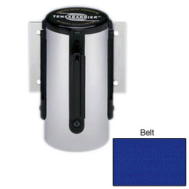 Tensabarrier Red Mini Wall Mount 7.5'L Blue Retractable Belt Barrier