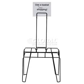 VersaCart ® Hand Basket Stand and Sign for 28 Liter Shoppoing Basket