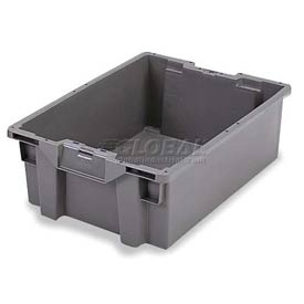 ORBIS Stack-N-Nest Pallet Container GS6040-22 - 23-5/8 x 15-3/4 x 8-1/2 Gray - Pkg Qty 5