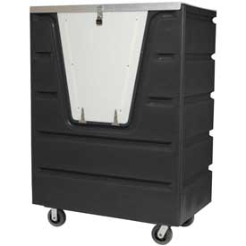 Dandux Black Recycled Plastic Hopper Front Security Bulk Truck 512560SX 58 Cu. Ft. Cap.