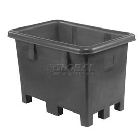 """Dandux Black Recycled Plastic Pallet Container 512026X Single Wall  - 43""""L x 28""""W x 29""""H"""