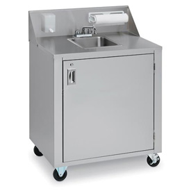 Crown Verity CVPHS-1 Single Bowl Portable Hand Sink Cart