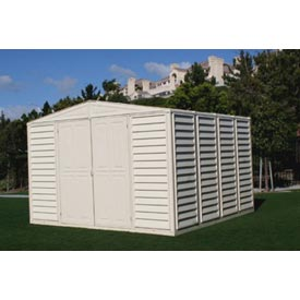 "WoodBridge Vinyl Outdoor Storage Shed 00484, 10'5""W X 10'5""D X 7'1""H, Includes Foundation"