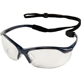 Vapor Safety Eyewear - Clear Anti-Fog, Metallic Blue