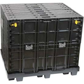 "Buckhorn Maximizer Collapsible Container System GL4840412010100 - 48"" x 40"" x 41"", Black"