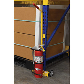 Fire Extinguisher Cart with Wall-Mounted Brackets