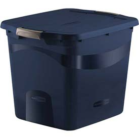 Rubbermaid 3R29 Latching Clever Store Tote 21 Gallon Dark Blue - Pkg Qty 7