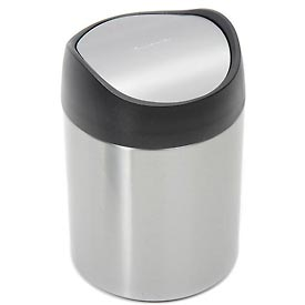 simplehuman® Counter Top Can - 1.5 Liters Brushed SS