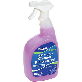 Global® Multi-Purpose Cleaner & Protectant - Case Of Six 1 Quart Bottles